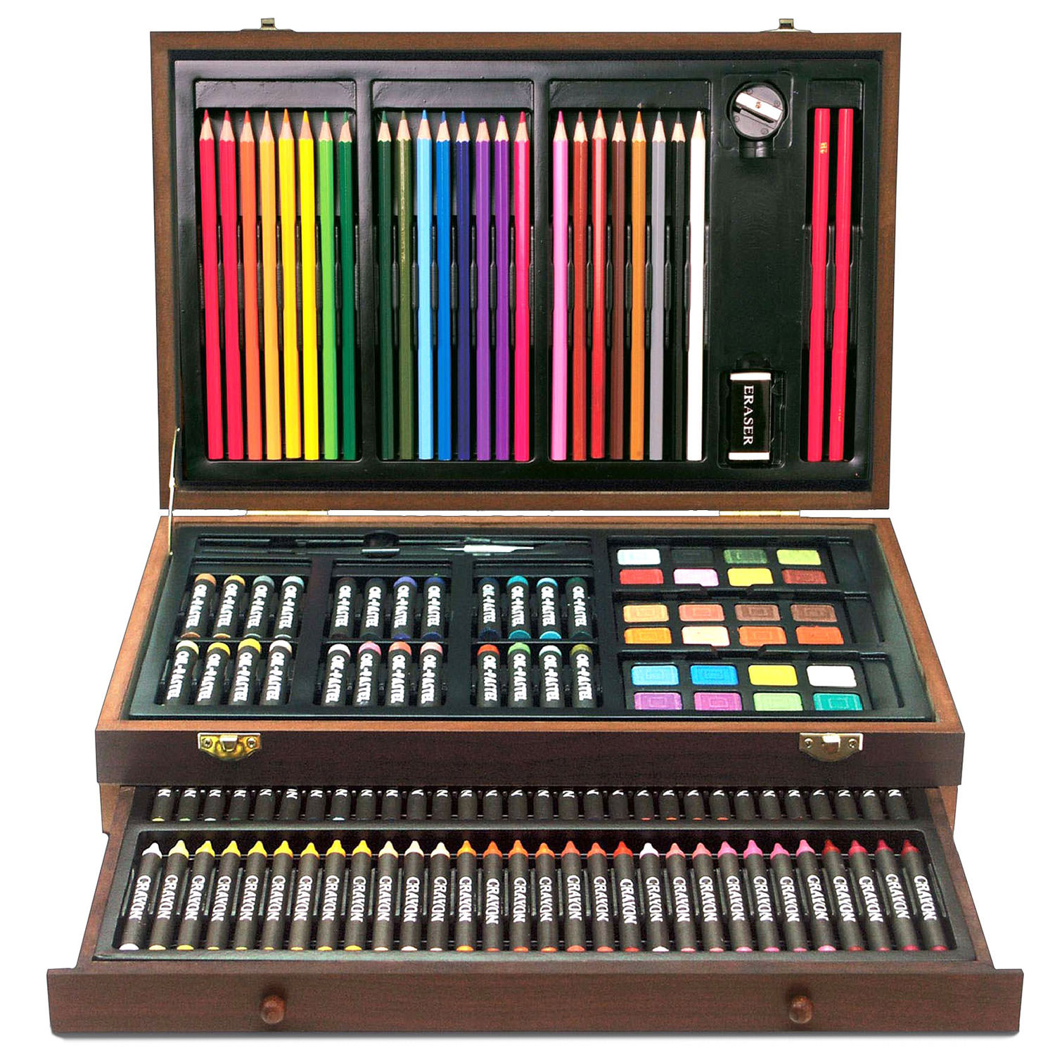 Art Box 138 Piece Mega Artist Creative Drawing Wood Box Set