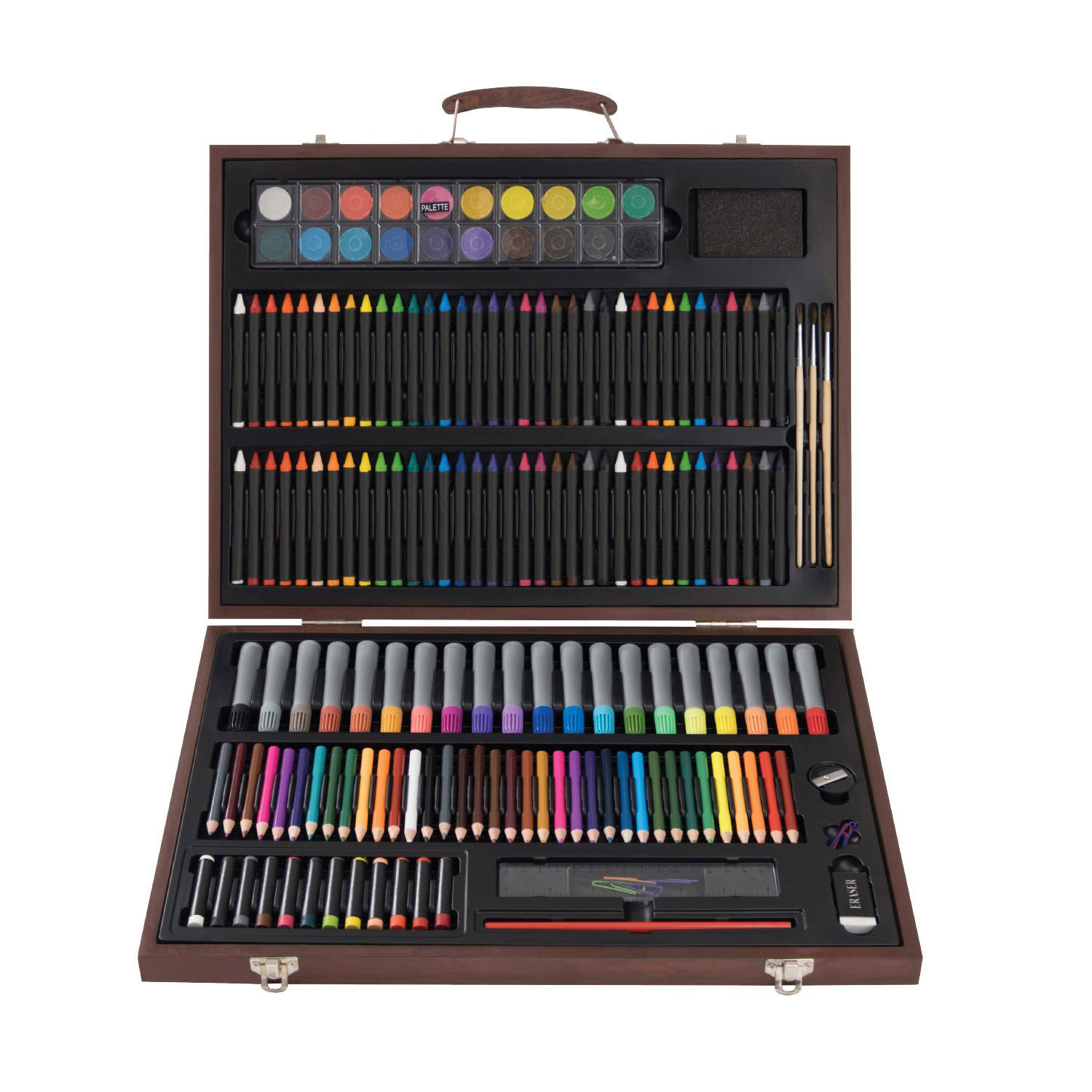 Art Box 167 Piece Premium Art Set with Wood Box