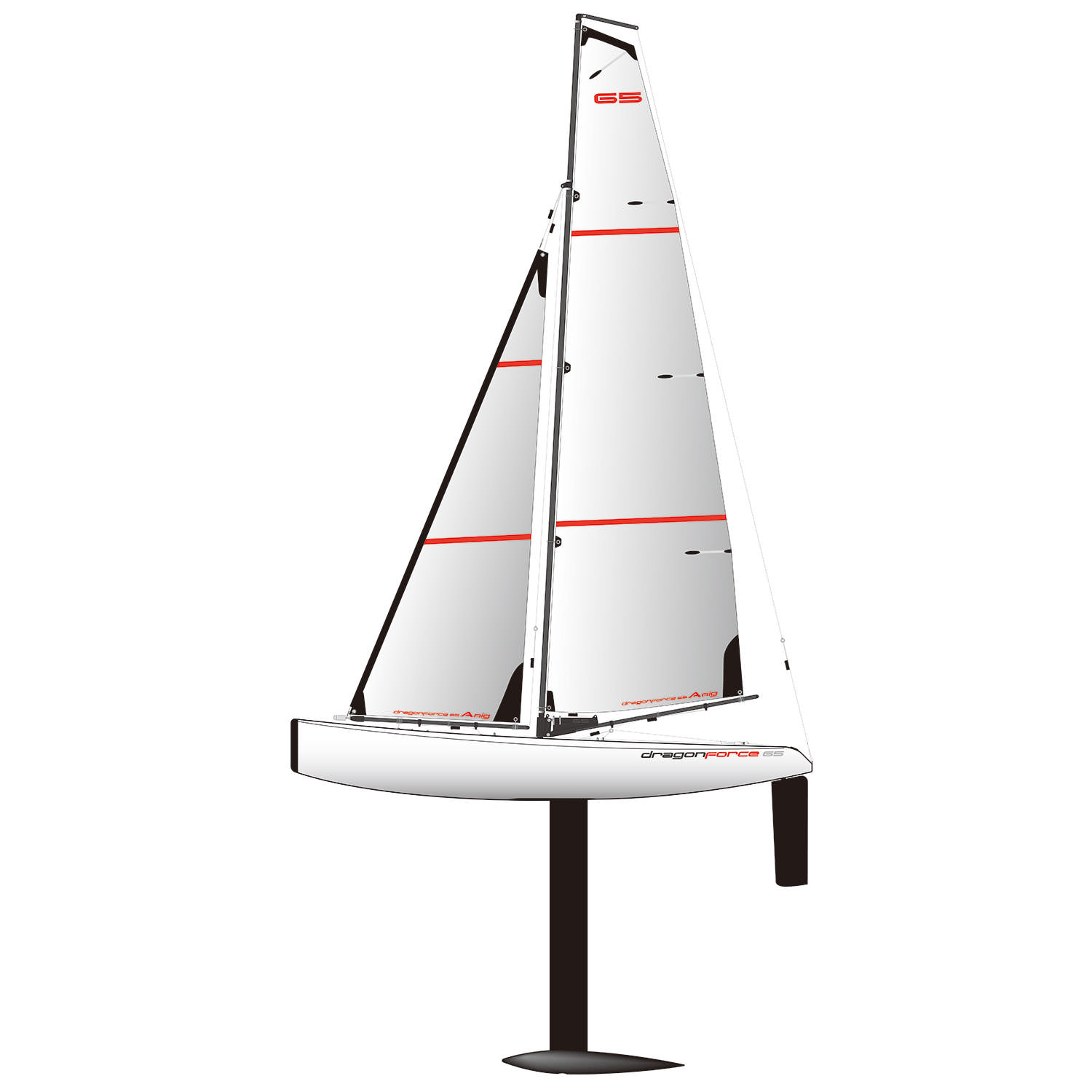 Joysway DragonForce 65 V6 2.4GHz RG65 Class DF65 RC Yacht - PNP (without Tx or Rx)
