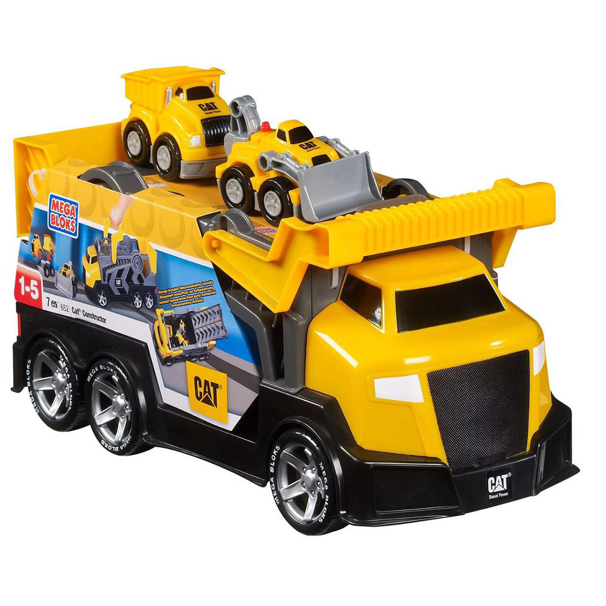 Mega Bloks CAT Tiny n Tuff Constructor with Dump Truck and Dozer
